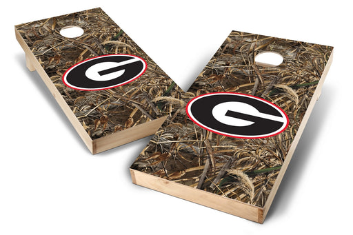 Georgia Bulldogs 2x4 Cornhole Board Set - Realtree Max-5 Camo