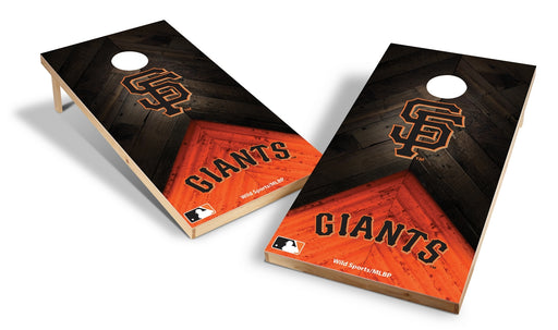 San Francisco Giants 2x4 Cornhole Board Set - Weathered