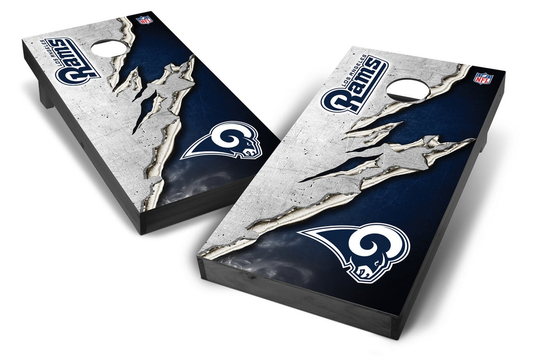Los Angeles Rams 2x4 Cornhole Board Set Onyx Stained - Ripped