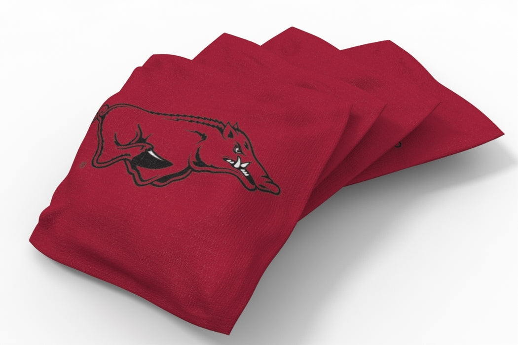 Arkansas Razorbacks 2x4 Cornhole Board Set Onyx Stained - Medallion