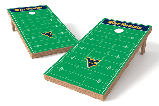 West Virginia Mountaineers 2x4 Cornhole Board Set - Field
