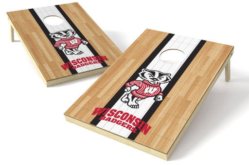 Wisconsin Badgers 2x3 Cornhole Board Set - Hardwood
