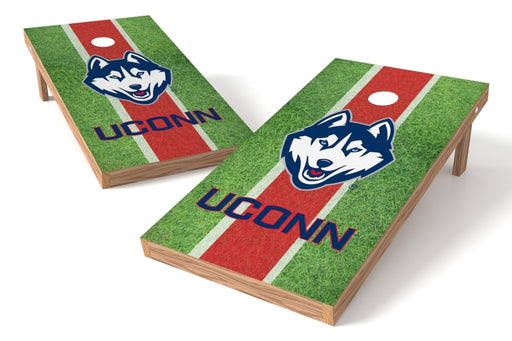 Connecticut Huskies 2x4 Cornhole Board Set - Field
