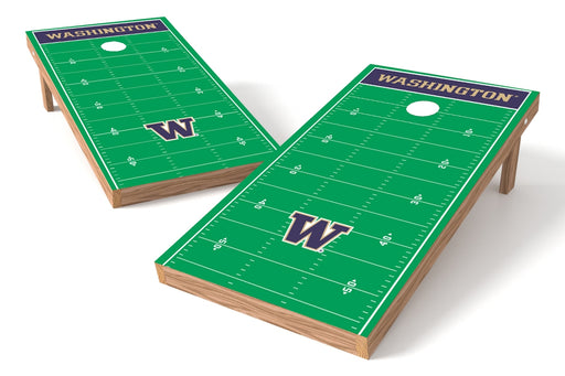 Washington Huskies 2x4 Cornhole Board Set - Field
