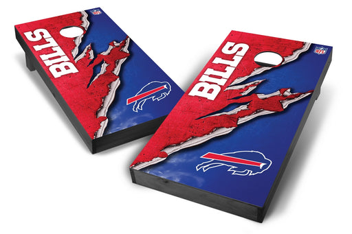 Buffalo Bills 2x4 Cornhole Board Set Onyx Stained - Ripped
