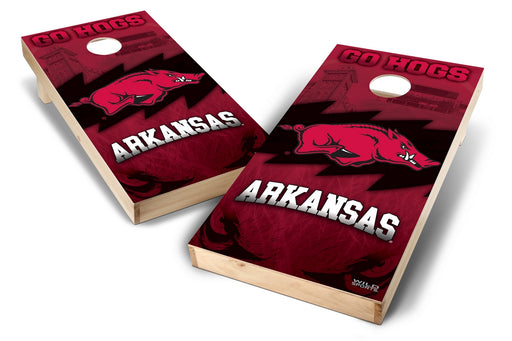 Arkansas Razorbacks 2x4 Cornhole Board Set - Wild