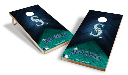 Seattle Mariners 2x4 Cornhole Board Set - Weathered
