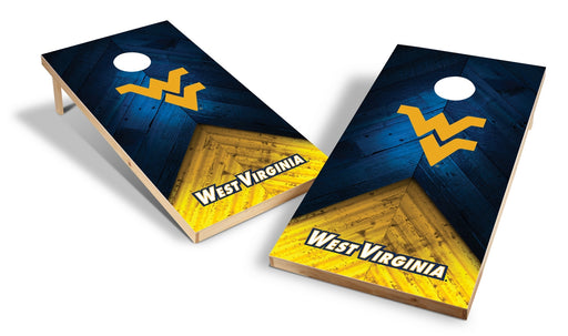 West Virginia Mountaineers 2x4 Cornhole Board Set - Weathered