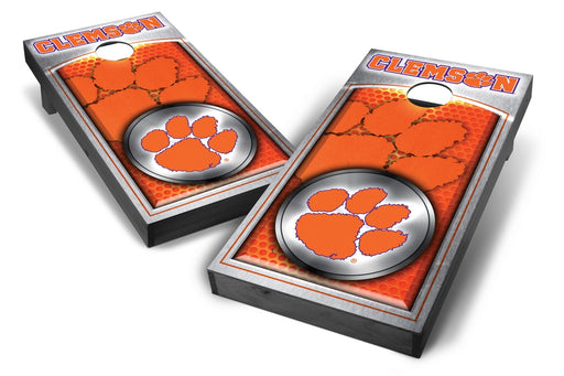 Clemson Tigers 2x4 Cornhole Board Set Onyx Stained - Medallion