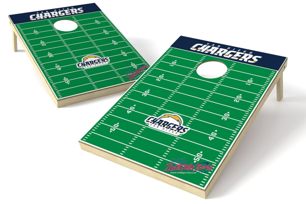 Los Angeles Chargers 2x3 Cornhole Board Set - Field