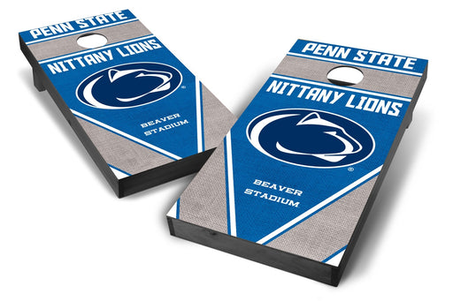 Penn State Nittany Lions 2x4 Cornhole Board Set Onyx Stained - Burlap
