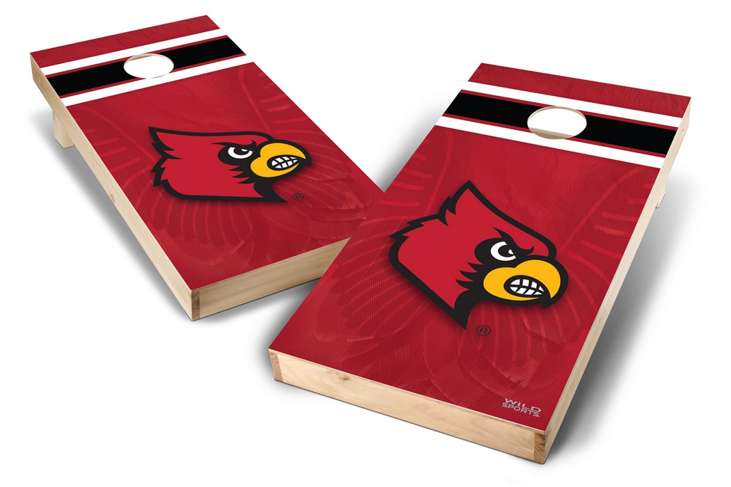 Louisville Cardinals 2x4 Cornhole Board Set - Wild
