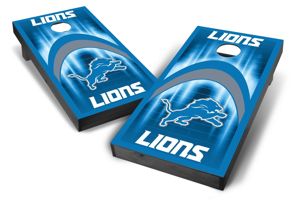 Detroit Lions 2x4 Cornhole Board Set Onyx Stained - Arch
