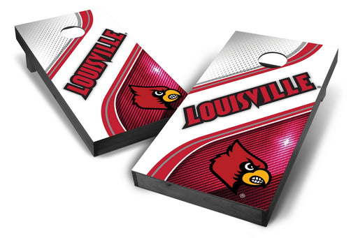 Louisville Cardinals 2x4 Cornhole Board Set Onyx Stained - Swirl