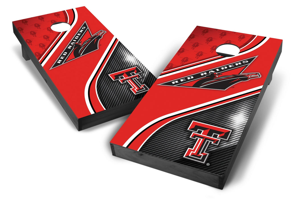 Texas Tech Red Raiders 2x4 Cornhole Board Set Onyx Stained - Swirl