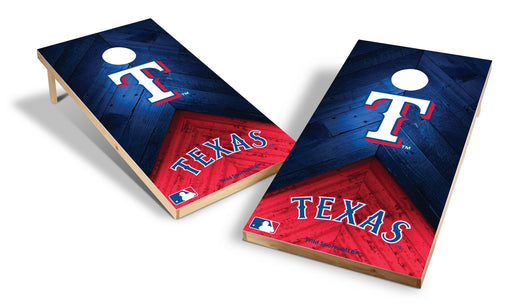 Texas Rangers 2x4 Cornhole Board Set - Weathered