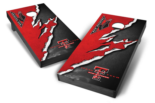 Texas Tech Red Raiders 2x4 Cornhole Board Set Onyx Stained -  Ripped