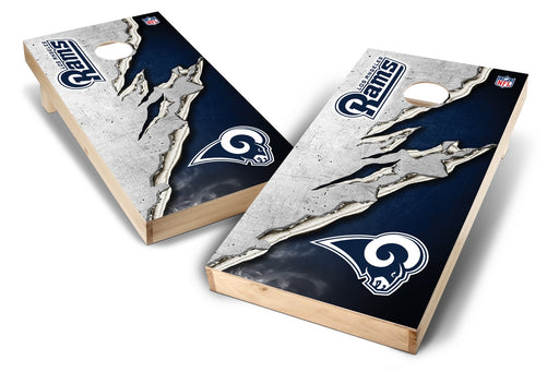 Los Angeles Rams 2x4 Cornhole Board Set - Ripped