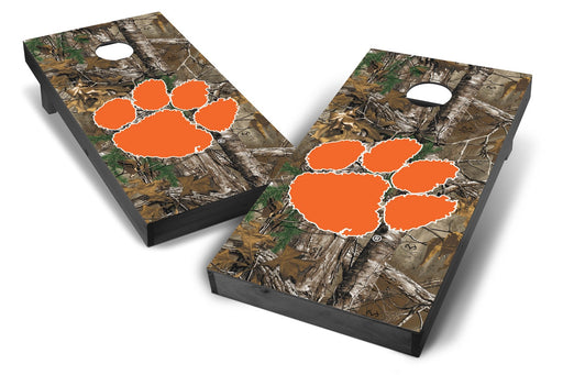 Clemson Tigers 2x4 Cornhole Board Set Onyx Stained - Xtra Camo