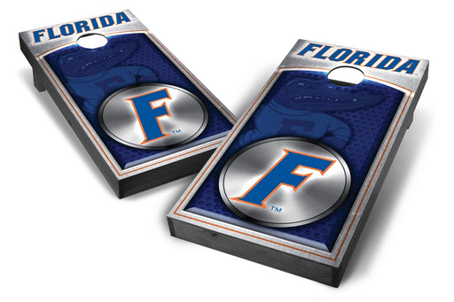 Florida Gators 2x4 Cornhole Board Set Onyx Stained - Medallion