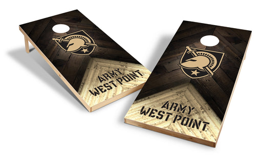 Army Black Knights 2x4 Cornhole Board Set - Weathered