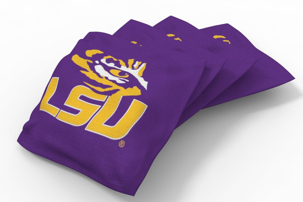 LSU Tigers 2x4 Cornhole Board Set Onyx Stained - Spiral