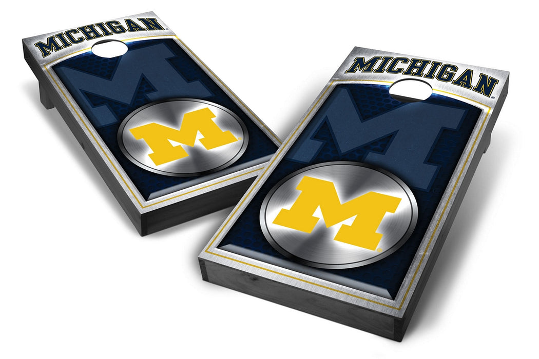 Michigan Wolverines 2x4 Cornhole Board Set Onyx Stained -  Ripped