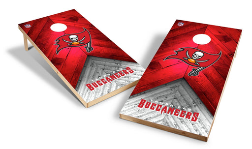 Tampa Bay Buccaneers 2x4 Cornhole Board Set - Weathered