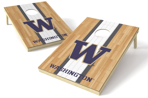 Washington Huskies 2x3 Cornhole Board Set - Hardwood