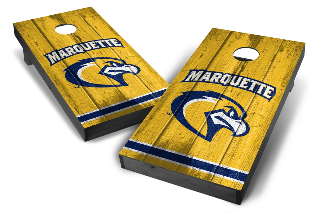 Marquette Golden Eagles 2x4 Cornhole Board Set Onyx Stained - Vintage