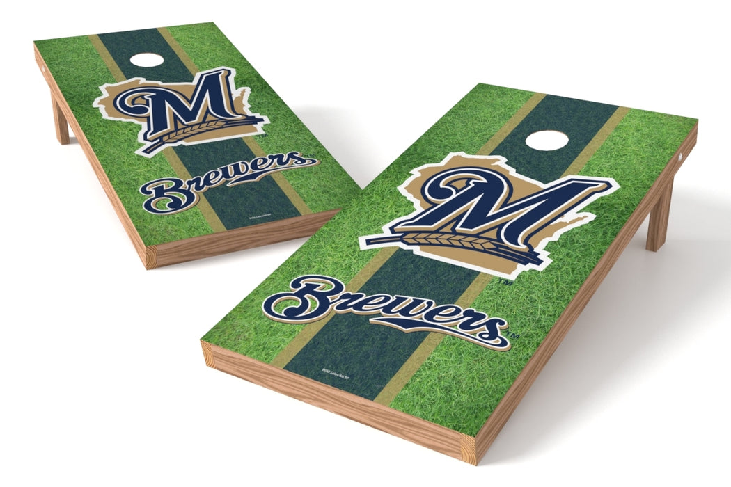 Milwaukee Brewers 2x4 Cornhole Board Set - Field