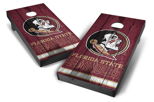 Florida State Seminoles 2x4 Cornhole Board Set Onyx Stained - Vintage