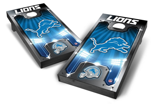 Detroit Lions 2x4 Cornhole Board Set Onyx Stained - Plate
