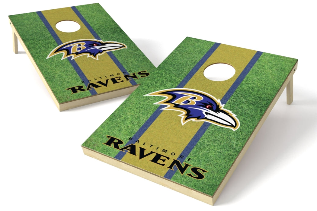 Baltimore Ravens 2x3 Cornhole Board Set - Field