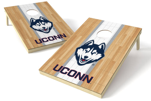 Connecticut Huskies 2x3 Cornhole Board Set - Hardwood