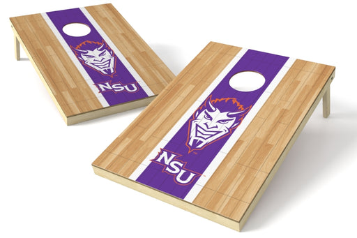 Northwestern State 2x3 Cornhole Board Set - Hardwood