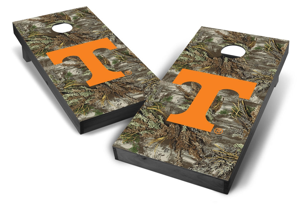 Tennessee Volunteers 2x4 Cornhole Board Set Onyx Stained - Realtree Max-1 Camo