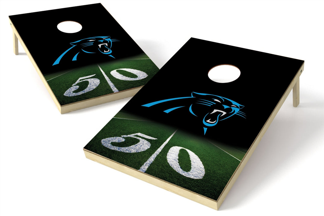 Carolina Panthers 2x3 Cornhole Board Set - 50 Yard Line