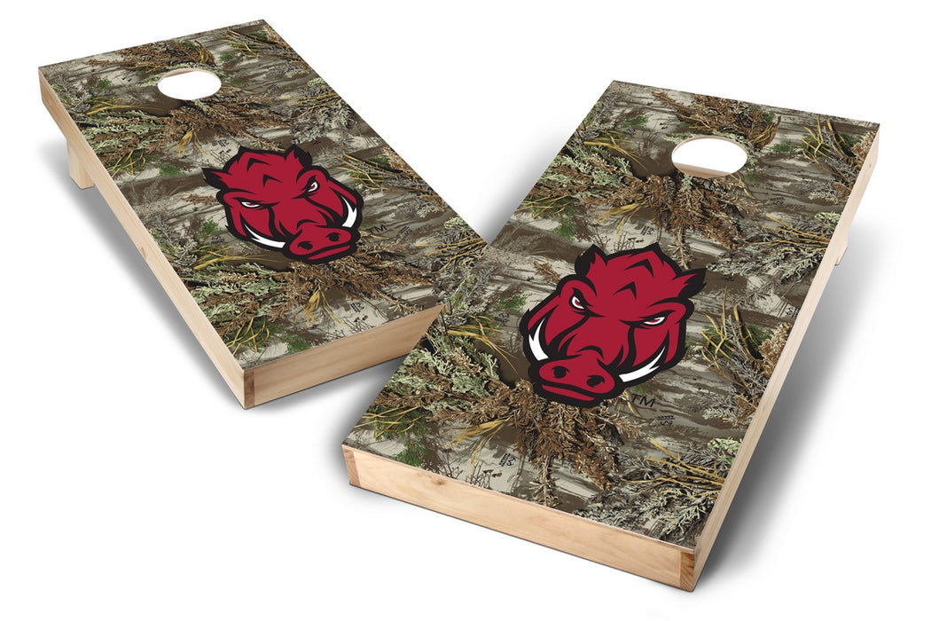 Arkansas Razorbacks 2x4 Cornhole Board Set - Realtree Max-1 Camo