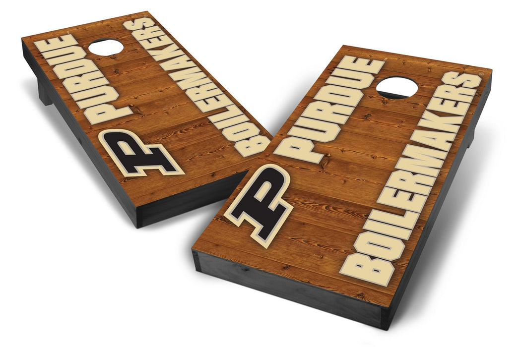 Purdue Boilermakers 2x4 Cornhole Board Set Onyx Stained - Vertical