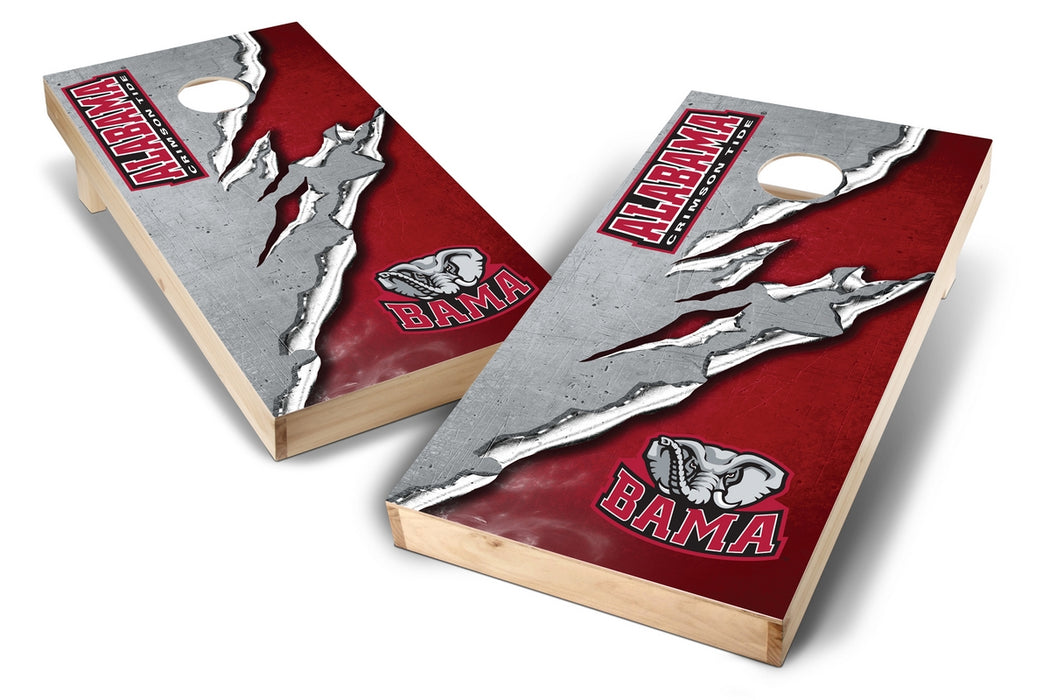 Alabama Crimson Tide 2x4 Cornhole Board Set - Ripped