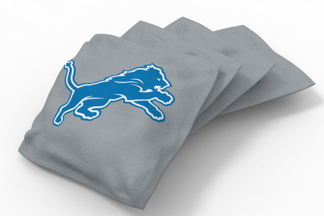 Detroit Lions 2x4 Cornhole Board Set Onyx Stained - Ripped