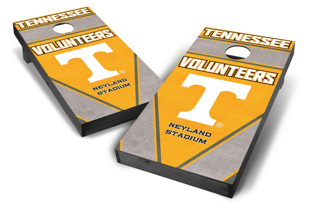 Tennessee Volunteers 2x4 Cornhole Board Set Onyx Stained - Burlap