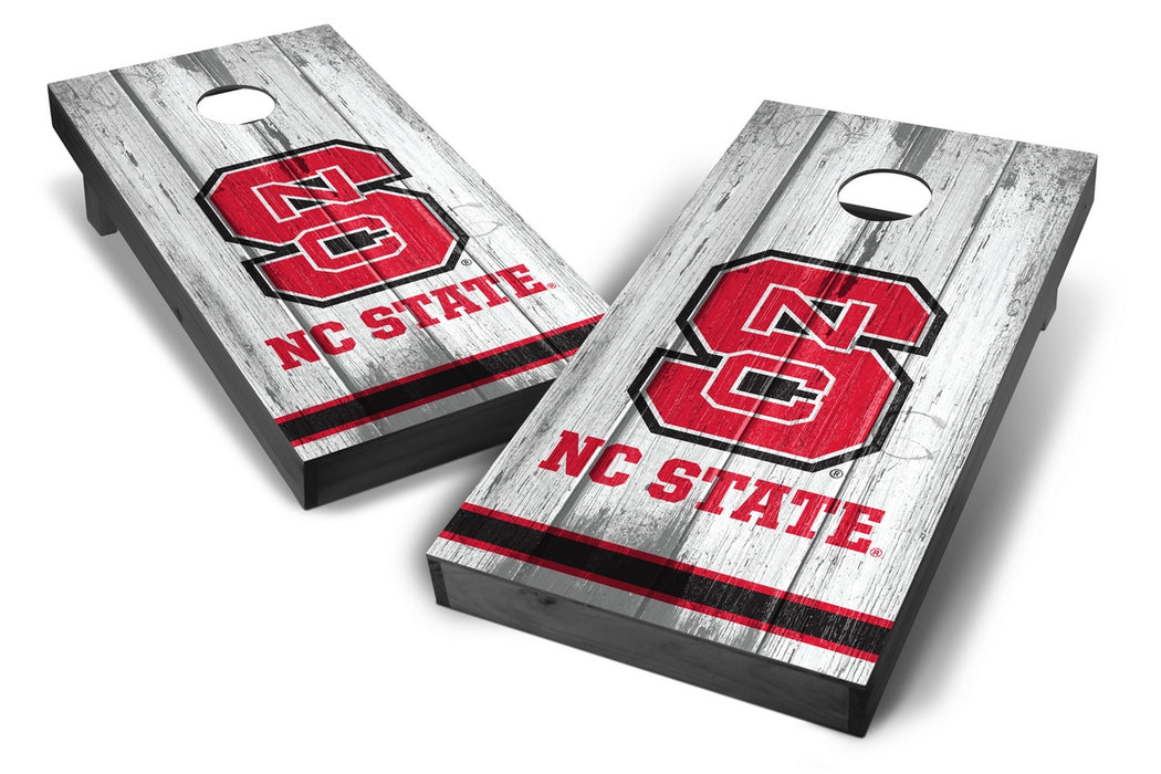 NC State Wolfpack 2x4 Cornhole Board Set Onyx Stained - Vintage