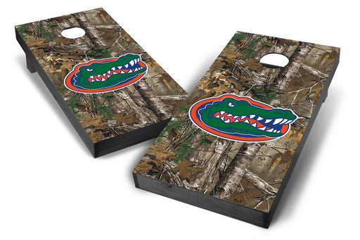 Florida Gators 2x4 Cornhole Board Set Onyx Stained - Xtra Camo