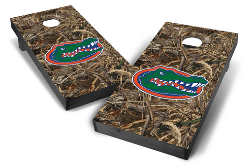 Florida Gators 2x4 Cornhole Board Set Onyx Stained - Realtree Max-5 Camo