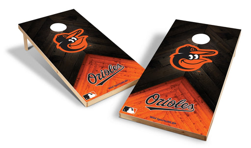 Baltimore Orioles 2x4 Cornhole Board Set - Weathered