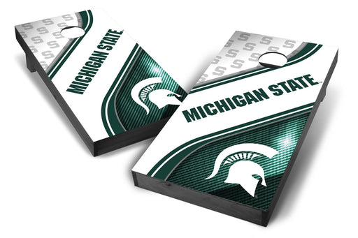 Michigan State Spartans 2x4 Cornhole Board Set Onyx Stained - Swirl