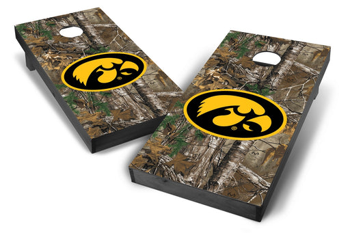 Iowa Hawkeyes 2x4 Cornhole Board Set Onyx Stained - Xtra Camo