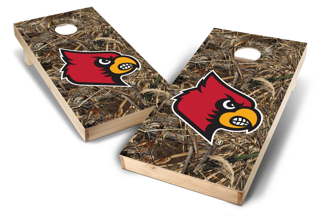Louisville Cardinals 2x4 Cornhole Board Set - Realtree Max-5 Camo
